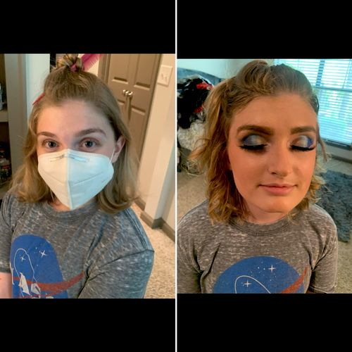 Full Face Coverage  Lash + Hair-Prom 21'  (Before/After)