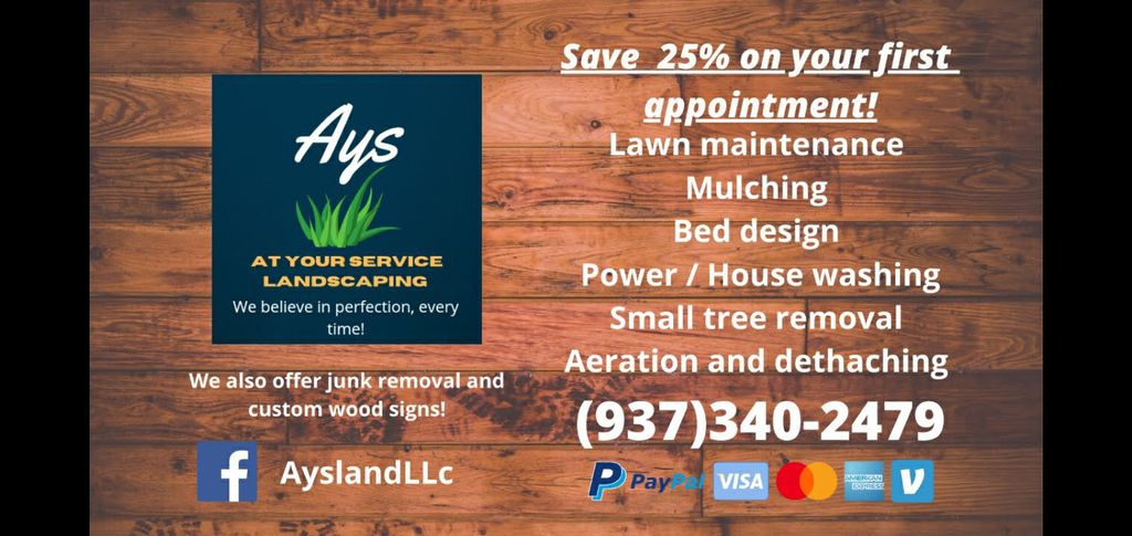At your service Landscaping LLC