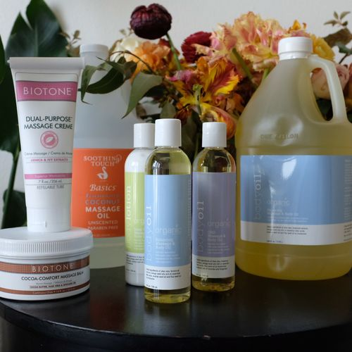 I care about the products I use on your body! All products are Organic and paraben-free.
