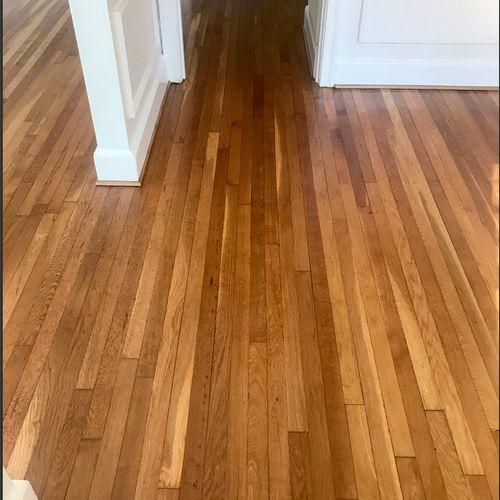 Dining Room Hardwood Floor-After