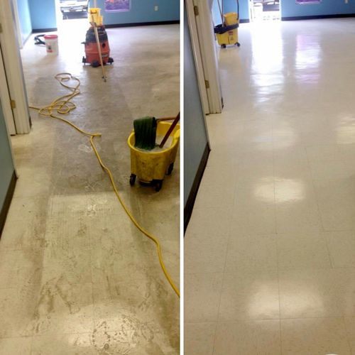 VCT Commercial Tile Before/After
