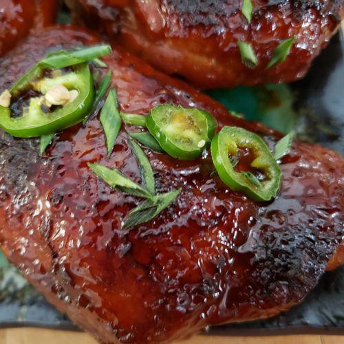 My mother's irresistible shoyu chicken.