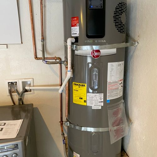 40 gal electric water heater installation