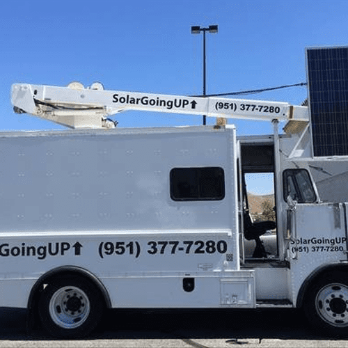 Our solar bucket truck