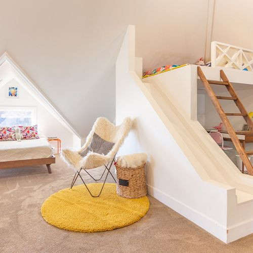 Fun kids room style that's classic and chic. A timeless design that will take your children through many milestones.