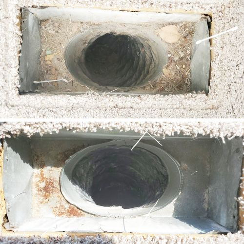 Air Duct Vent before and after