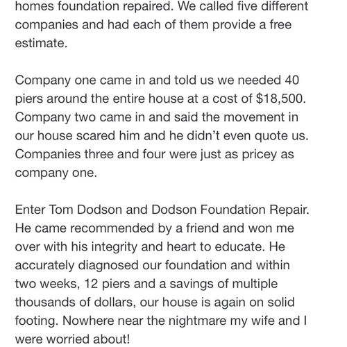 We want to give a huge shoutout to one of our new family members, Eric. It was a real pleasure to fix his home. Thank you for this amazing review!
