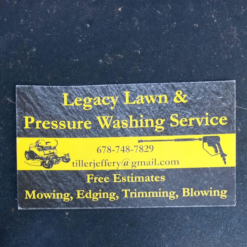 Legacy Lawn& Pressure Washing services