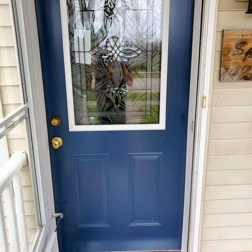 pre-hung front entry door replacement