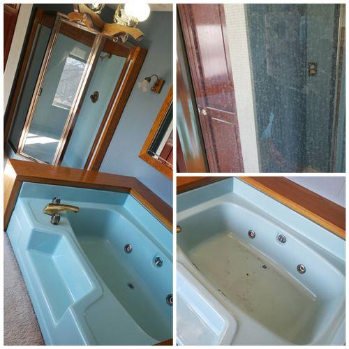 bathrooms /soap scum build up