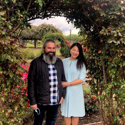 San Jose Municipal Rose Garden - beautiful place for a beautiful couple!❤️