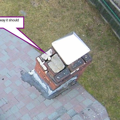 All chimneys should be professionally cleaned  from time to time. This one shows complete neglect.