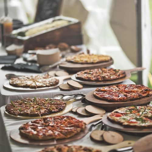 Wedding Pizza Display