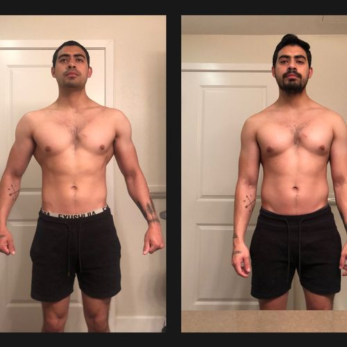 12 week check-in photos (Front)