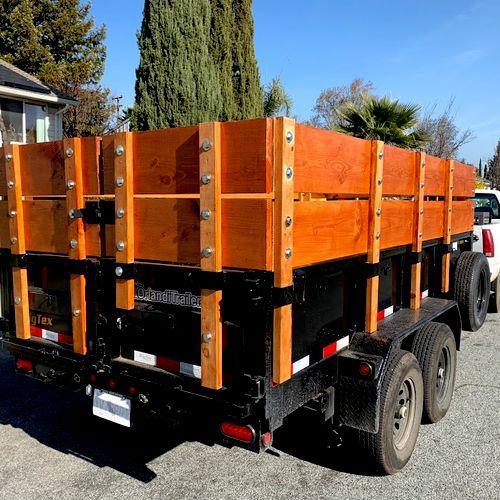 We built extra sidewalls so we could take bigger loads