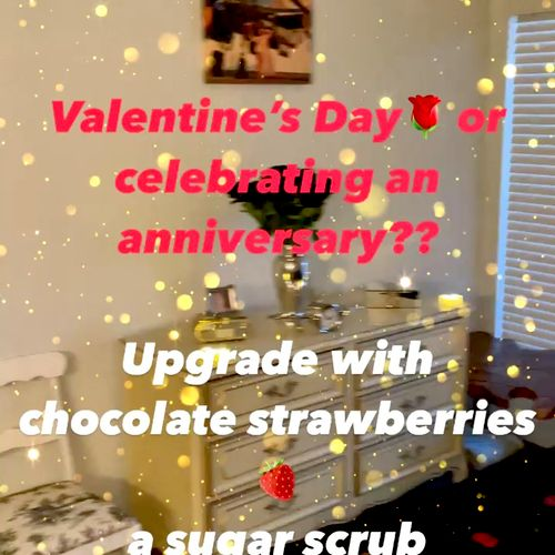 Celebrating a birthday or special day? Ask about spa upgrades for your significant other or girl's retreat 🍓🍫🌹