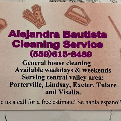Avatar for Alejandra cleaning services