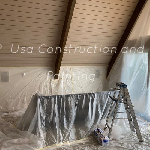 Interior painting preparing!