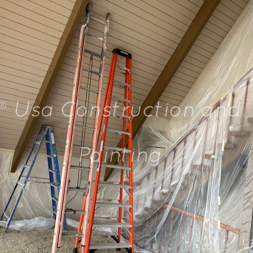 Interior painting! Preparing!