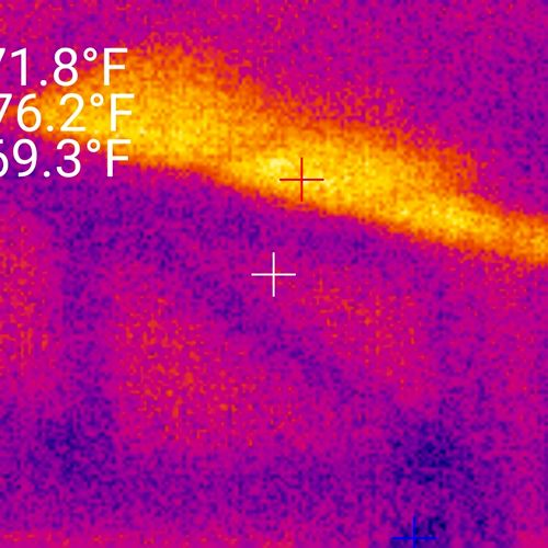 This roof had no apparent problems until a thermal scan showed a deficiency with insulation