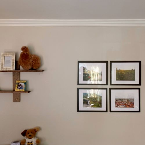 Picture/shelf hanging