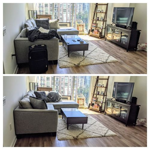 Before and After: Client home