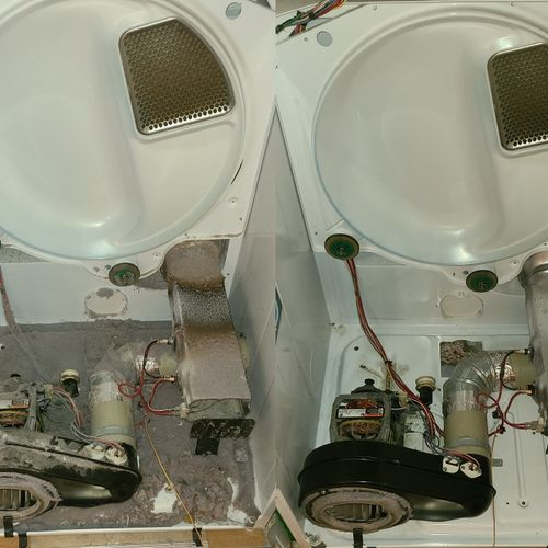 Dryer service (Befor/After)