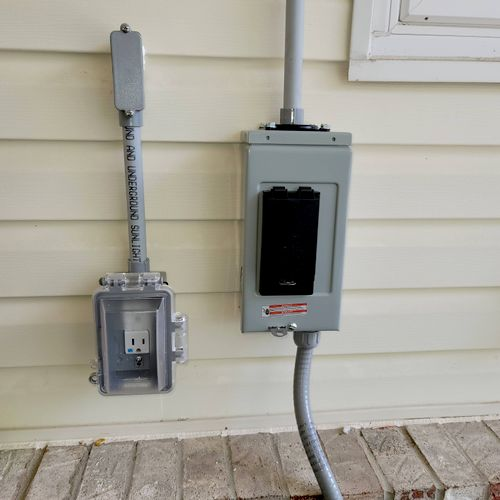 GFCI and a Jacuzzi disconnect.