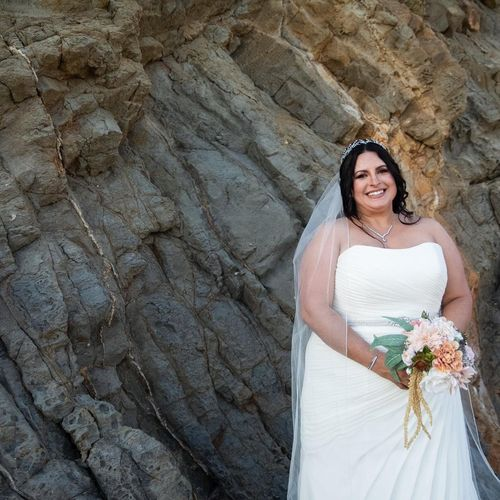Bride at Laguna Beach Wedding