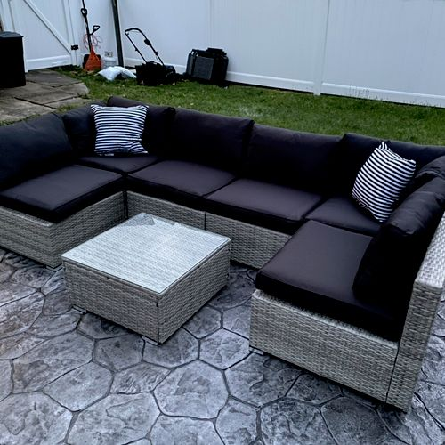 Outdoor sectional assembled