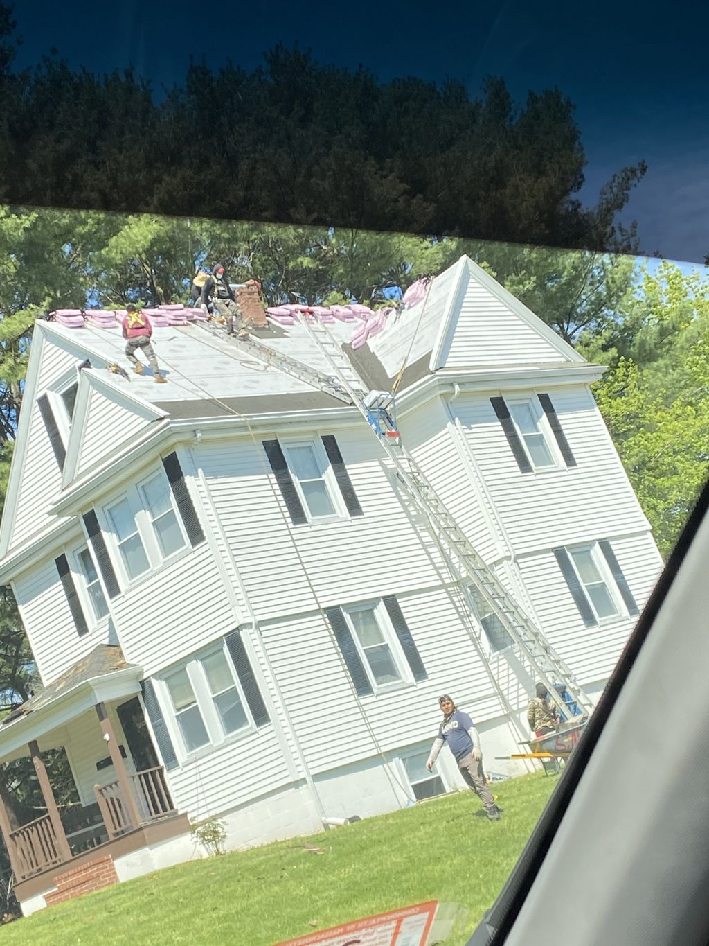 Roof replacement from slate to shingles