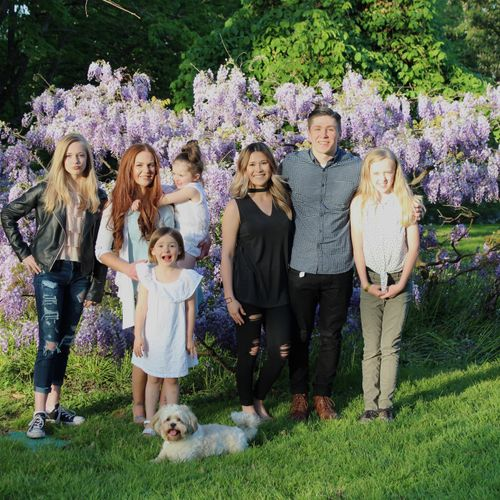 My family back in Oregon and my heirloom wisteria.