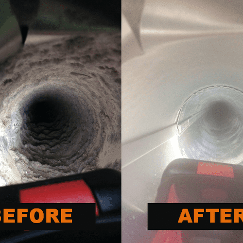 Duct Cleaning: Before & After