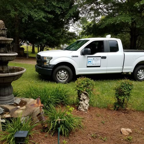 my 4wd truck and front yard.