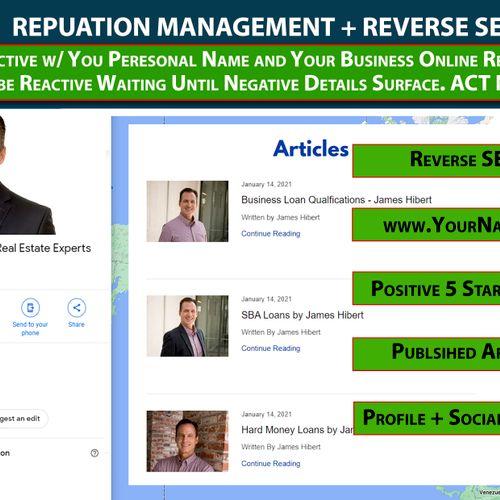 Reputation Management - Reverse SEO