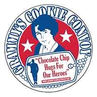 """grammy's cookie convoy """"chocolate chip hugs for our heroes"""" TM #88682547"""