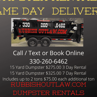 Avatar for RUBBISH OUTLAW DUMPSTER RENTAL & JUNK REMOVAL