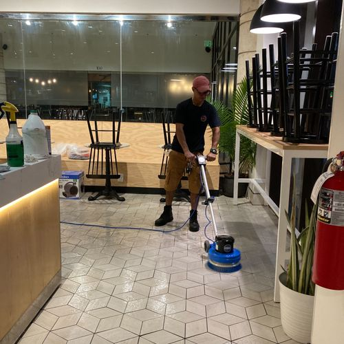 Ceramic Tile Cleaning(Buffing)