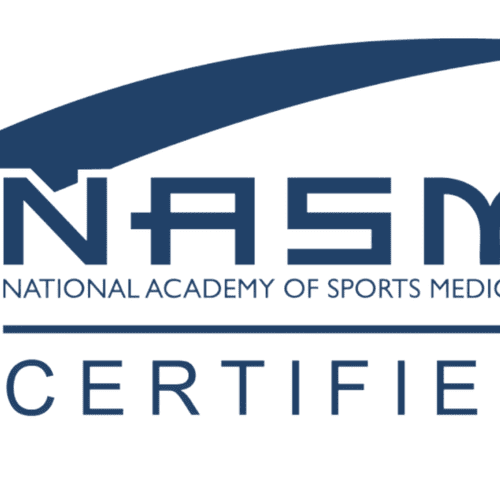 I am a certified personal trainer through the National Academy of Sports Medicine.