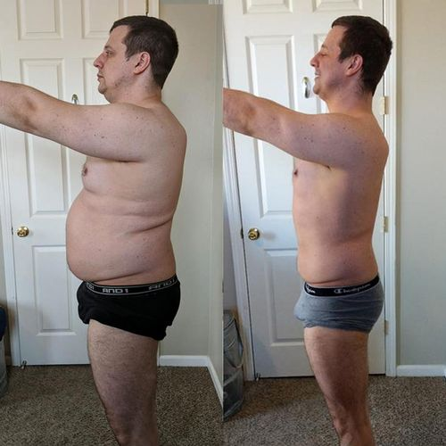 Morgan lost over 7 inches off his waist!