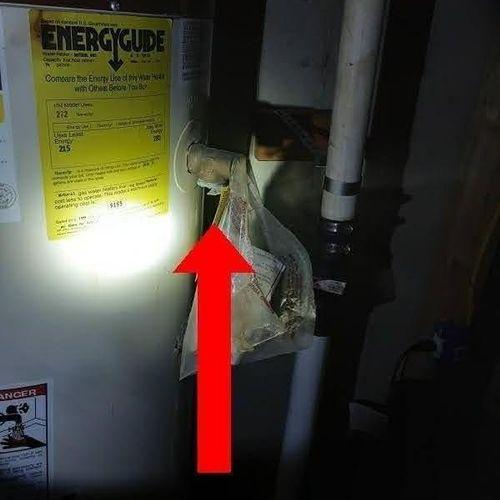 Missing Temperature relief valve