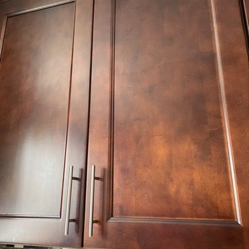 Removed cooking stains from cabinet