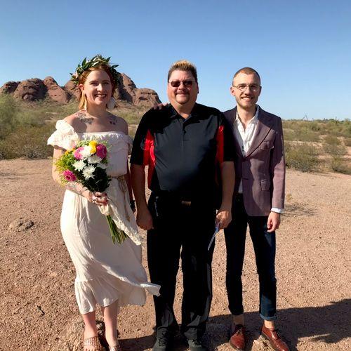 We did our first desert elopement...  Thanks Daniel & Kenice