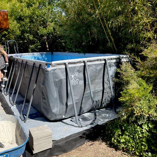 Swimming pool installation in Menlo Park.