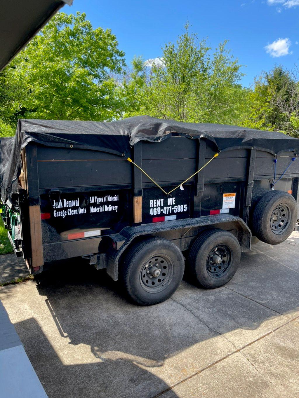 Mena's dump trailer services