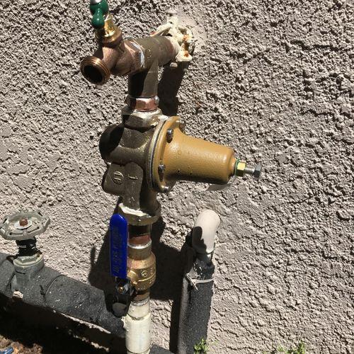 New pressure reducing valve, shut off valve, and hose