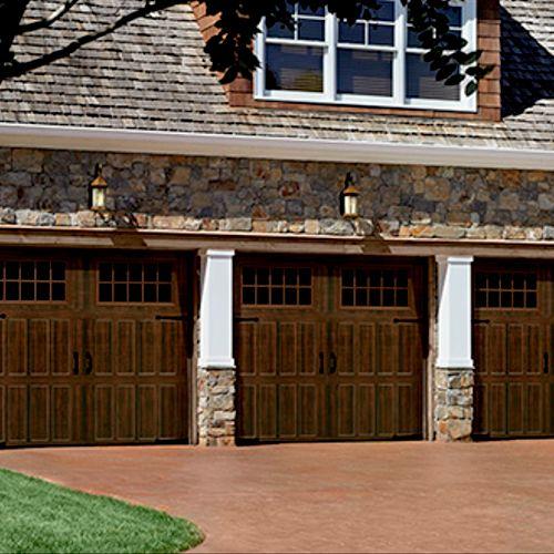 Wood Grain Garage Doors