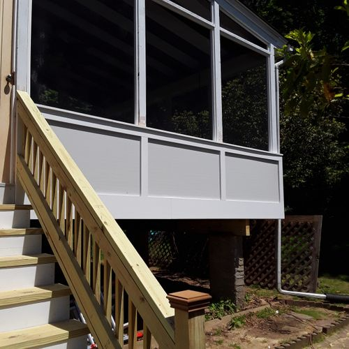 1960's screen porch rebuild
