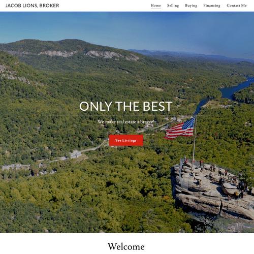 Website - Home (upper half)