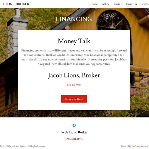 Website - inside page